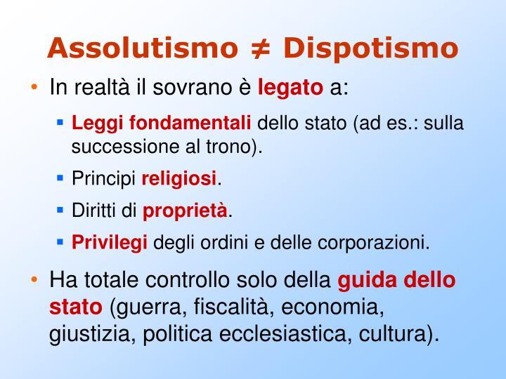 Assolutismo dispotismo