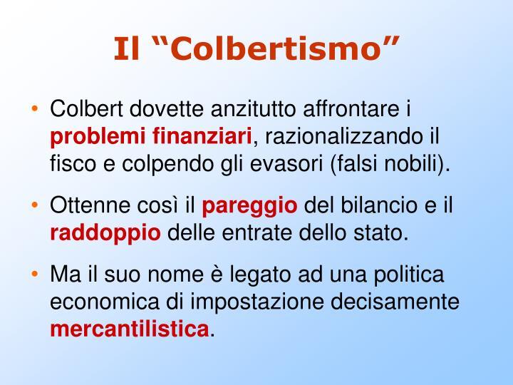 """Il """"Colbertismo"""""""