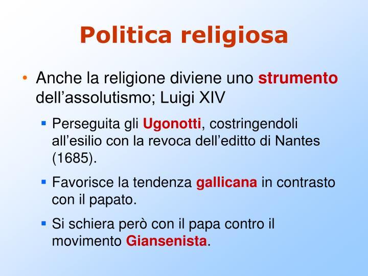 Politica religiosa