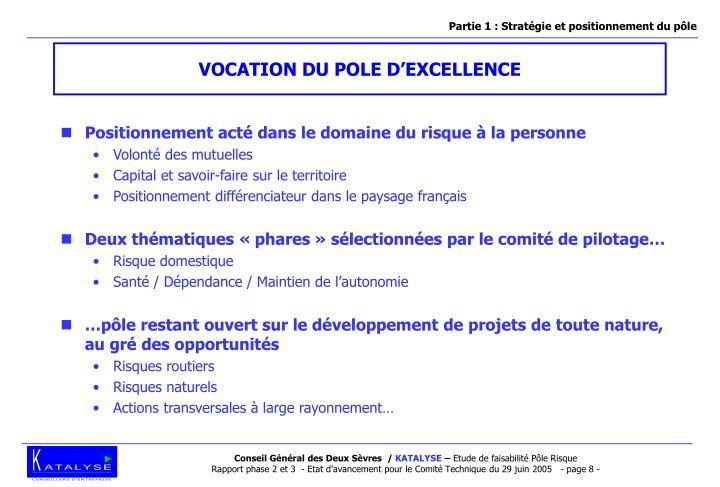 Partie 1 : Stratégie et positionnement du pôle