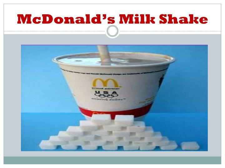 McDonald's Milk Shake