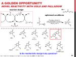 a golden opportunity novel reactivity with gold and palladium