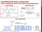 cooperative dual catalysis early examples with tsuji trost electrophiles