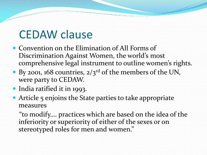 CEDAW clause