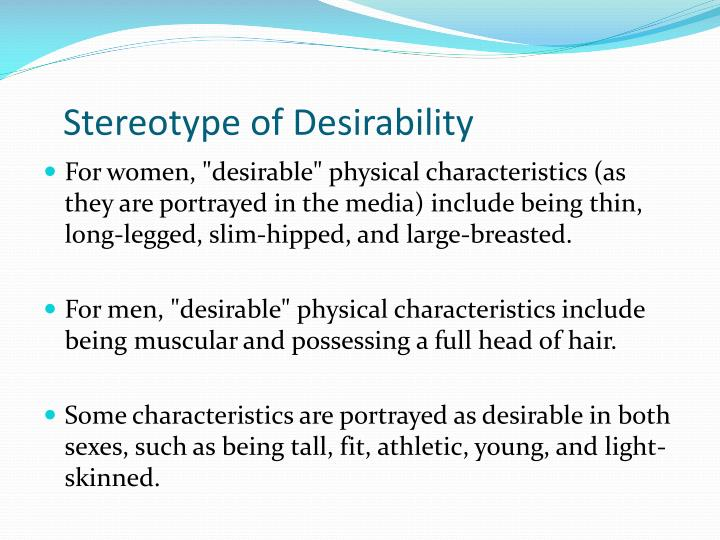 Stereotype of Desirability
