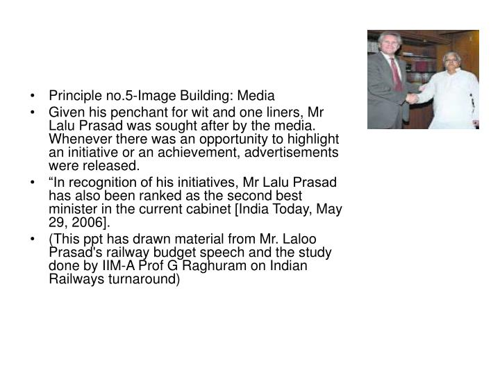 Principle no.5-Image Building: Media