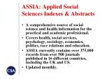 assia applied social sciences indexes abstracts
