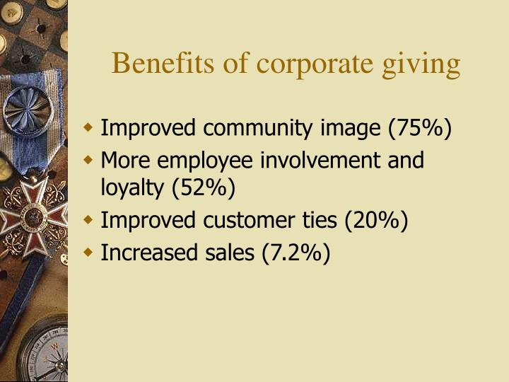 Ppt understanding corporate strategies in community for Ford motor company charitable giving