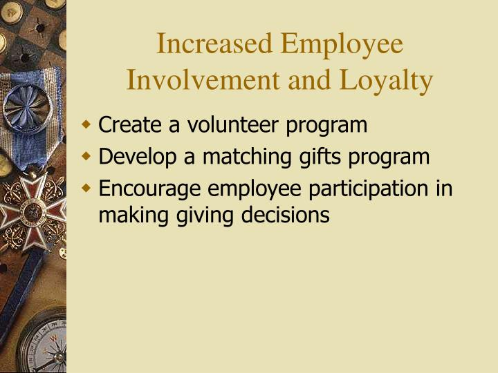 employee involvement participation pr Known about the influence of its employee involvement in decision making on firms'  means that employee participation in the planning process surrounding the.
