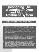 reshaping the westminster drug and alcohol treatment system