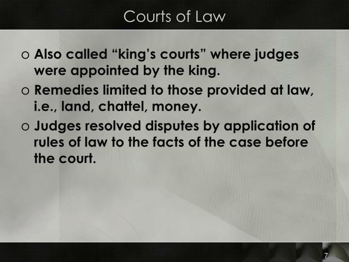 Courts of Law