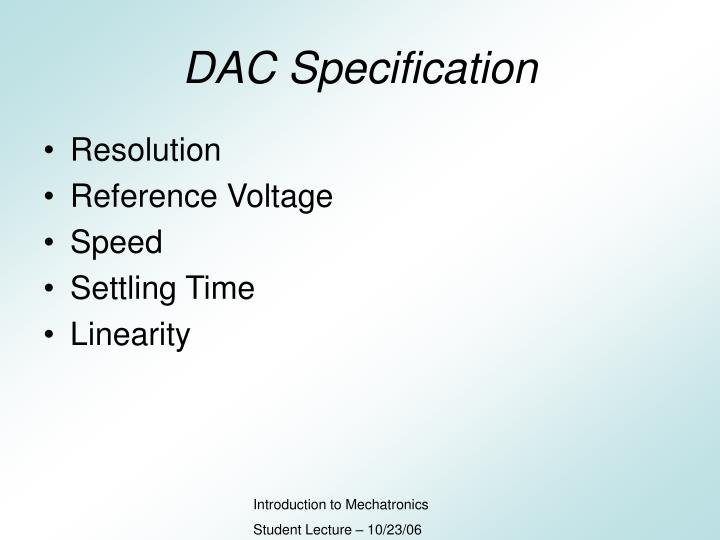 DAC Specification
