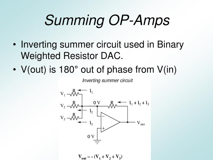 Summing OP-Amps