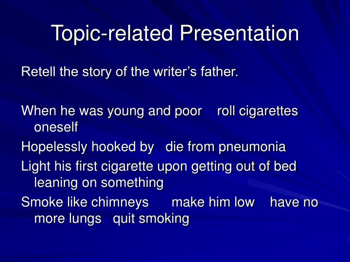 Topic-related Presentation