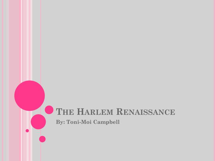 the harlem renaissance n.
