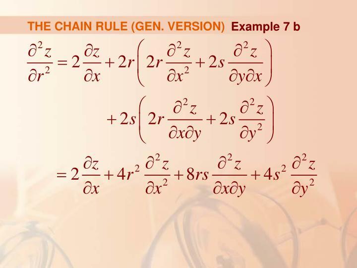 THE CHAIN RULE (GEN. VERSION)