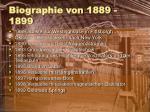 biographie von 1889 1899