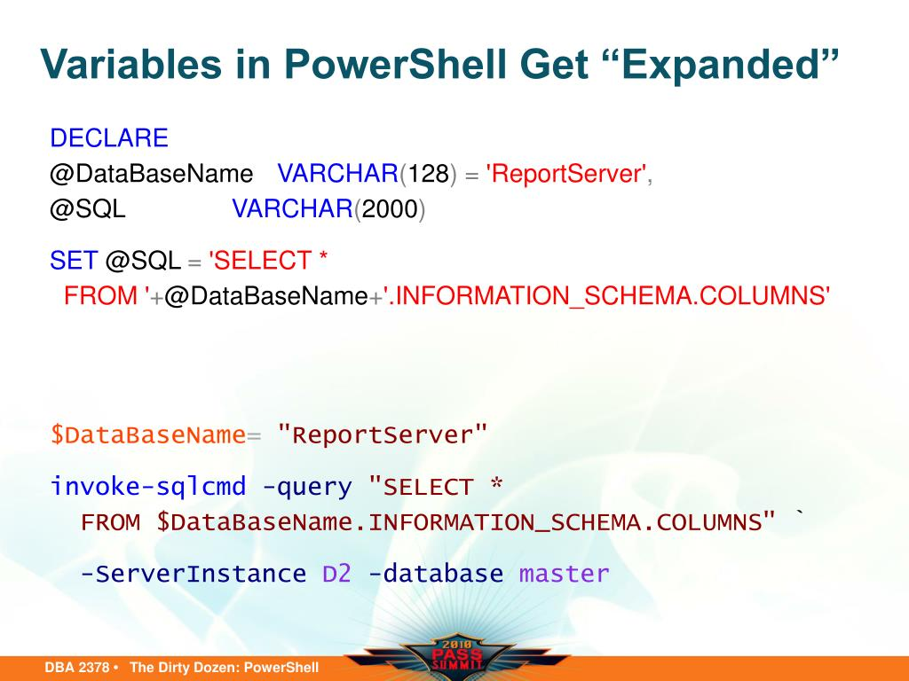 PPT - The Dirty Dozen: PowerShell Scripts for the Busy DBA