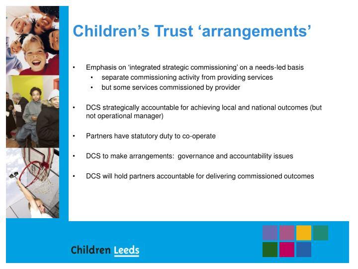 Children's Trust 'arrangements'