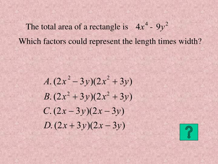 The total area of a rectangle is