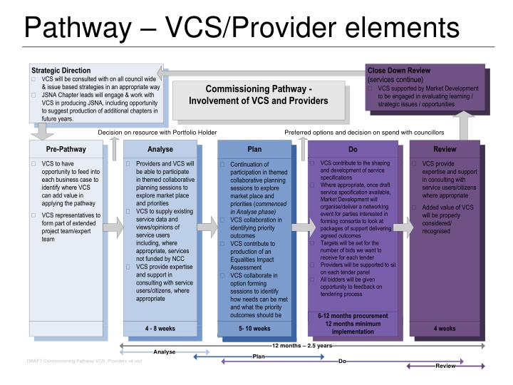 Pathway – VCS/Provider elements