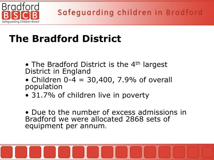 The Bradford District is the 4