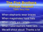 the five brothers philippe soupault trans terry hale