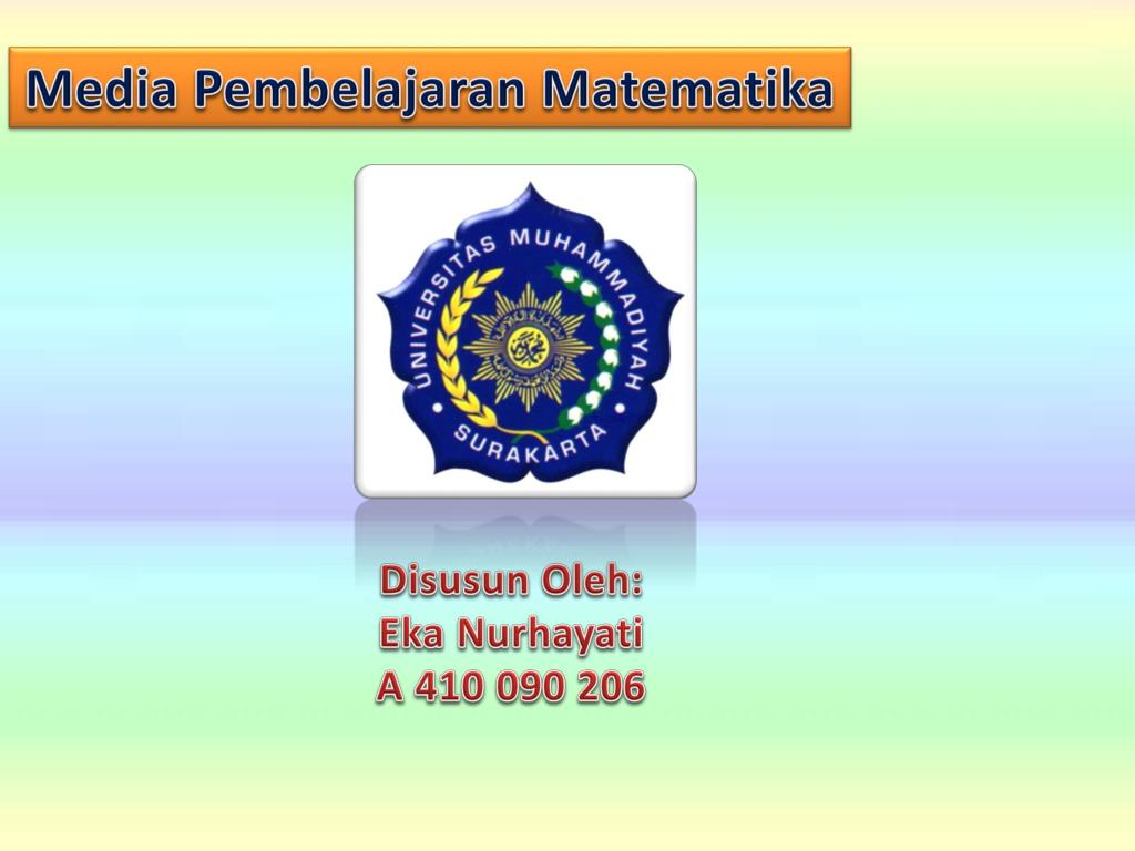Ppt Media Pembelajaran Matematika Powerpoint Presentation Free Download Id 3719348