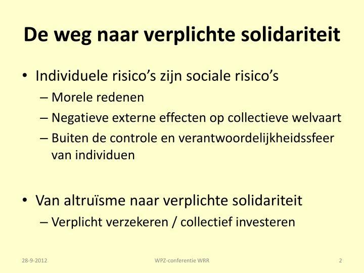 De weg naar verplichte solidariteit