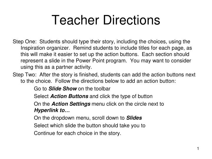 why students should follow directions Following directions the ability to follow any specific direction they are a great resource to use with my esl students to learn how to not only following.
