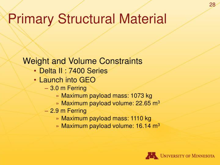 Primary Structural Material