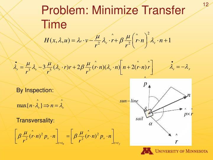 Problem: Minimize Transfer Time