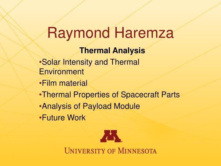 Raymond Haremza