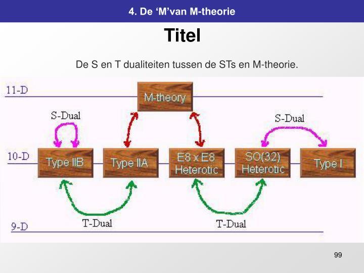 4. De 'M'van M-theorie