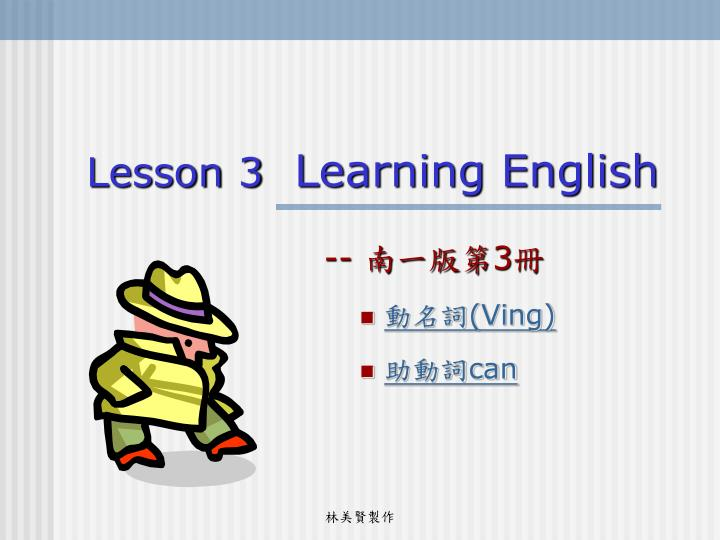 lesson 3 learning english n.