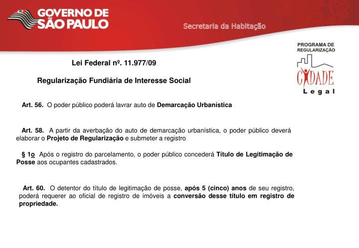 Lei Federal nº. 11.977/09