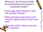 what can i do at home to help my child become and remain a successful reader5
