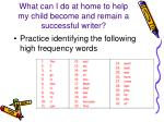 what can i do at home to help my child become and remain a successful writer2