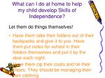 what can i do at home to help my child develop skills of independence1
