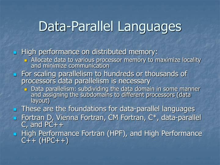 Data-Parallel Languages