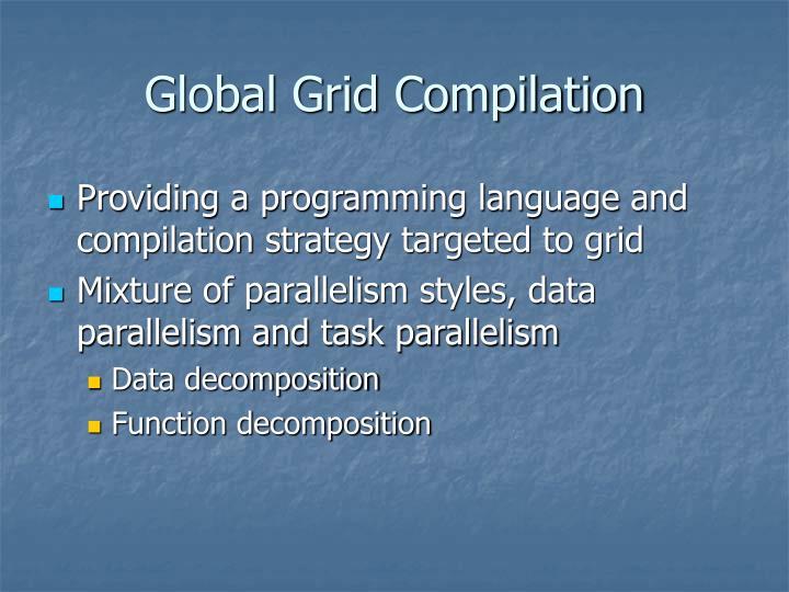 Global Grid Compilation