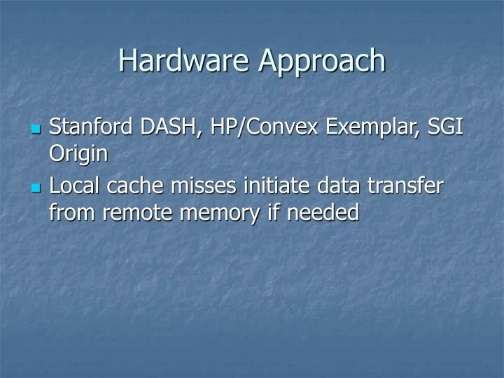 Hardware Approach