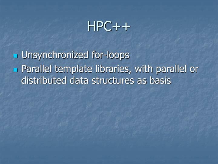 HPC++