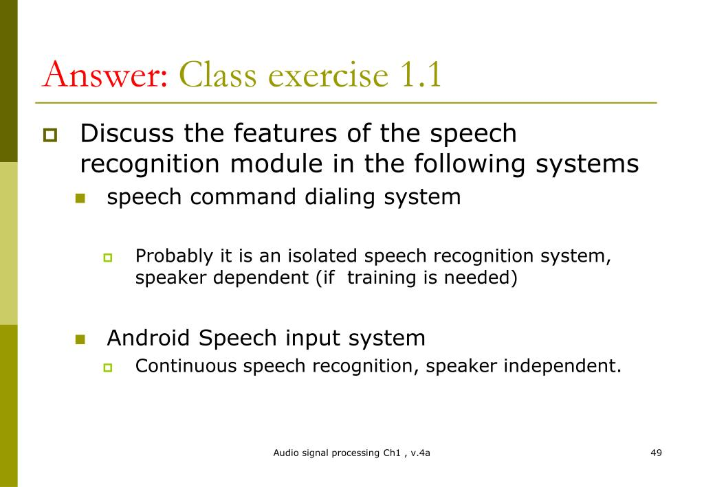 PPT - Chapter 1: Introduction to audio signal processing PowerPoint