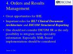 4 orders and results management