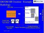 dicom sr creation example radiology