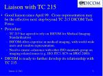 liaison with tc 215