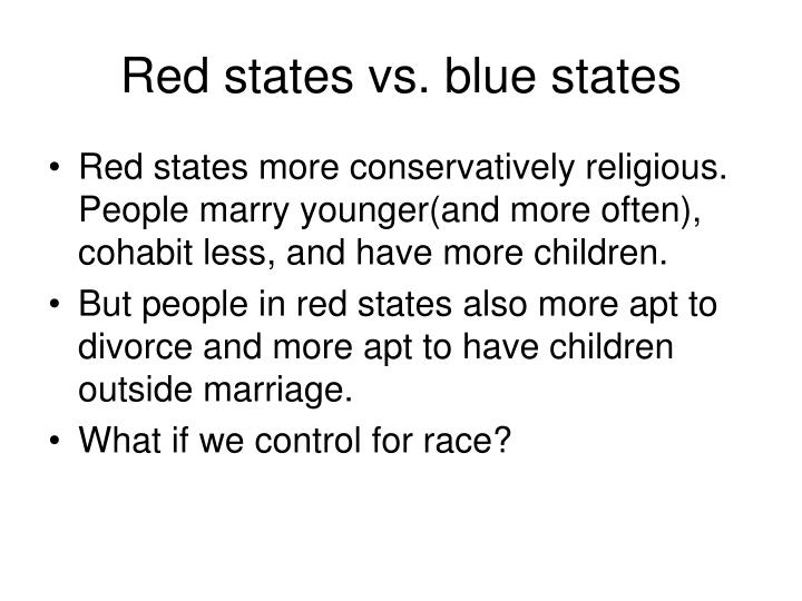 Red states vs. blue states