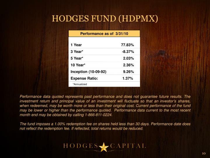 HODGES FUND (HDPMX)