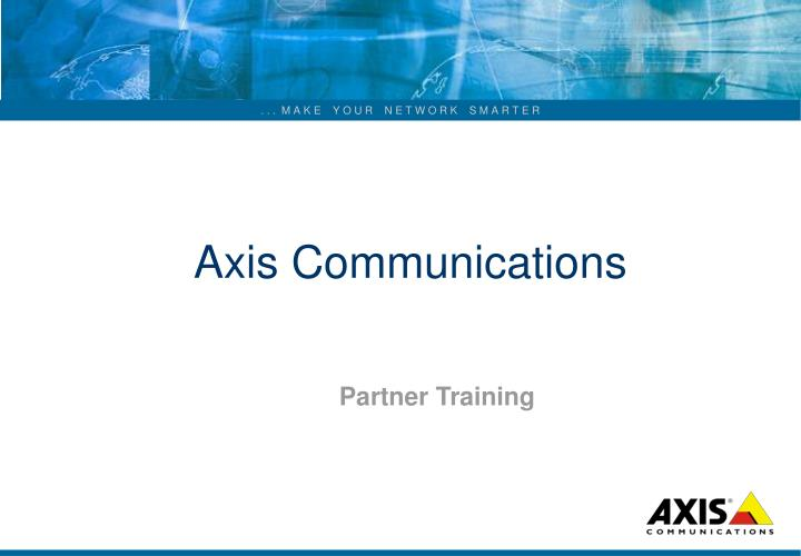 axis communications n.
